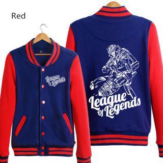 Herói Ezreal camisola para homens League of Legends jaquetas de baseball XXXL