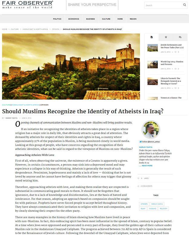 Müslümanlar Iraklı Ateistlerin kimliklerini tanımalı mı?