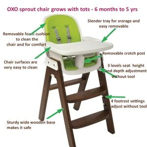 OXO sprout chair diagram