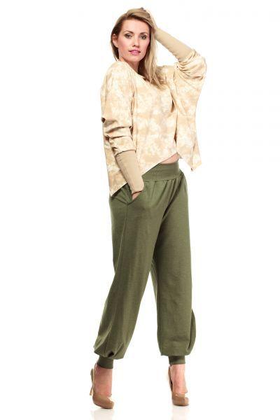 Dresowe luźne spodnie alladynki