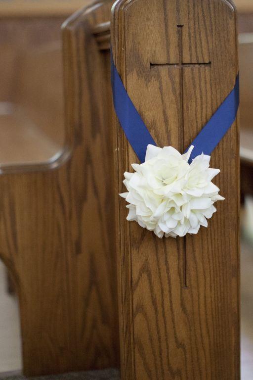 Church Pew Decorations - Ceremony
