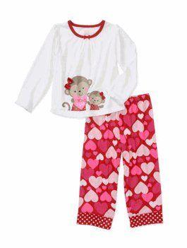 Child of Mine by Carters Girls` Valentine 2-Piece Pajama Set $19.99