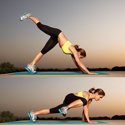 Plank Work Outs. Postpartum.