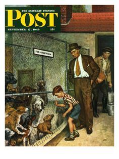 Sat Eve Post Cover ILL. -  Sep 17 1949  The first of 45 Cover Illustrations done for the Saturday Evening Post, all 45 are posted on this Board