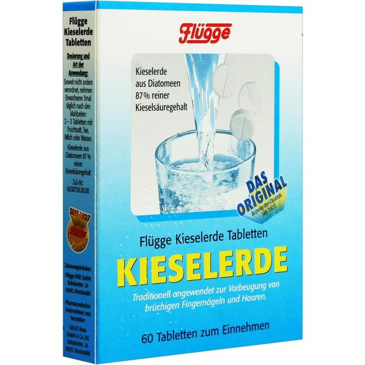 FLUEGGE Kieselerde Tabletten:   Packungsinhalt: 60 St Tabletten PZN: 06059690 Hersteller: SALUS Pharma GmbH Preis: 3,54 EUR inkl. 7 %…