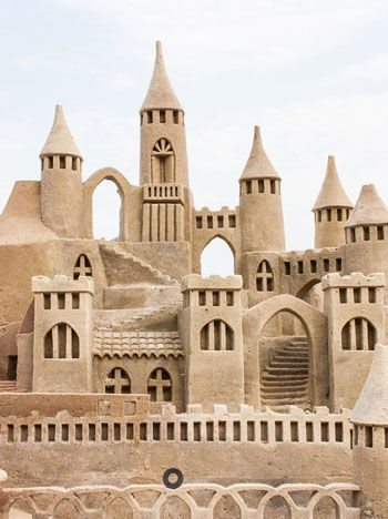 how to make fake sand castles