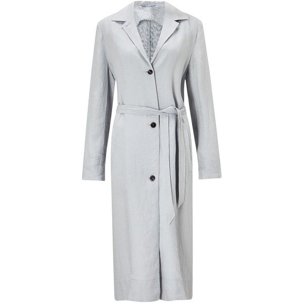 Jigsaw Louisiana Linen Trench (10.975 RUB) ❤ liked on Polyvore featuring outerwear, coats, sale women coats & jackets, lightweight trench coats, midi coat, jigsaw coats, trench coats and lightweight coat