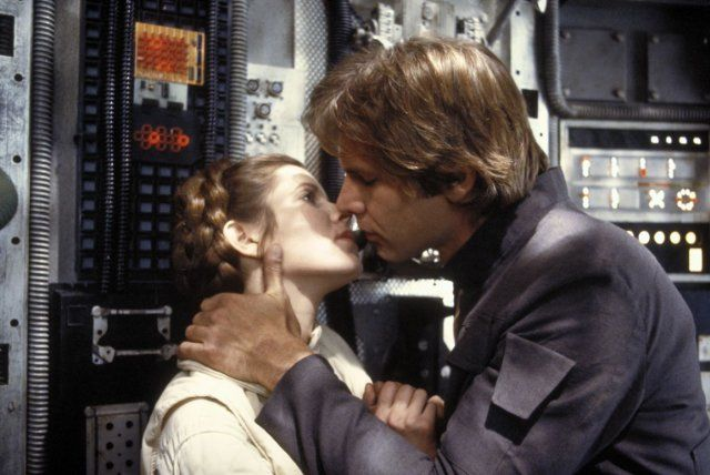 Harrison Ford and Carrie Fisher in The Empire Strikes Back