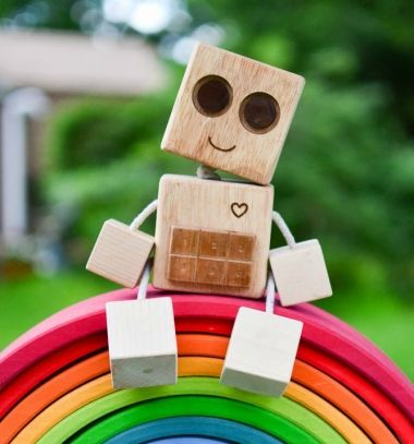 DIY wooden robot - wooden toy for kids (woodworking) // Robot fa kockákból - gyerekjáték fából (barkácsolás) // Mindy - craft tutorial collection