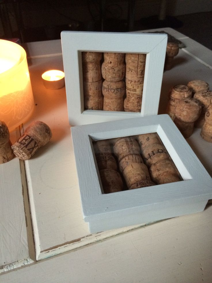 Home made cork coasters from saved up corks from special events