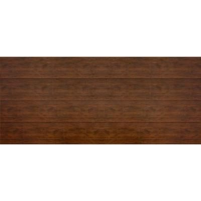 Martin Garage Doors Wood Collection Summit 16 ft. x 7 ft. Flush Panel Walnut Woodgrain Steel Back Insulation Garage Door-HDIY-001021 at The ...