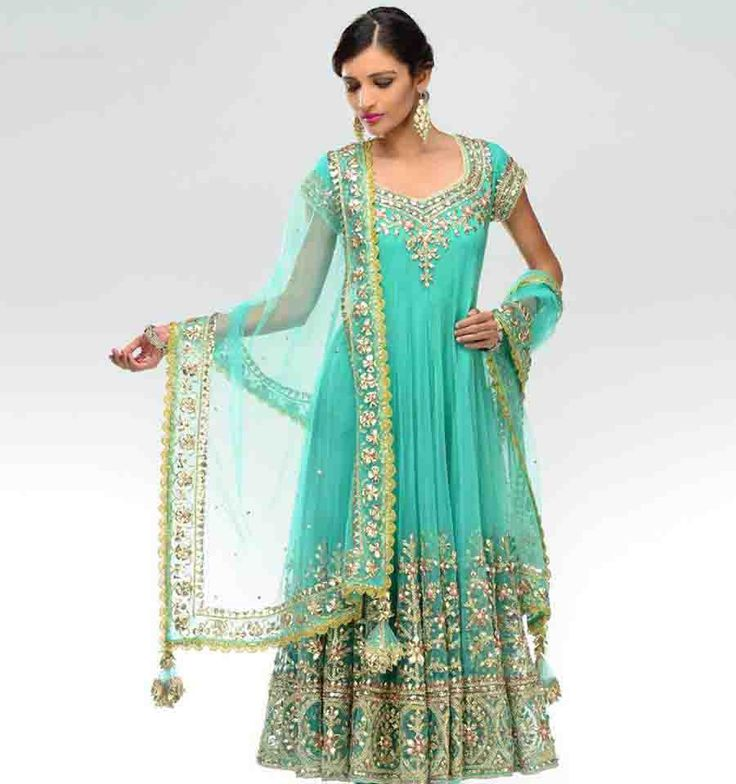 Anarkali with Gotta Work Is Available At www.ladyselection.com