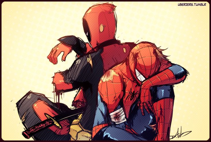 """""""you win some you lose some"""" - Deadpool and Spiderman #spideypool"""