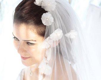 The Flora Veil-a flower veil created with от LoveSparklePretty