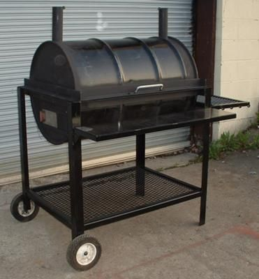 Redneck Barbecue Grill - Yep! This is the one! Found Christopher's 4-H Welding project!