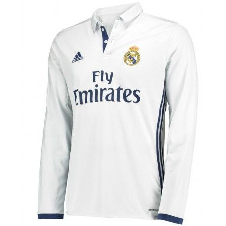 Maillot Real Madrid 2016-2017 Domicile Manches Longues