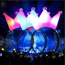 1 PC de LED piscando luz de coroa Tiara Headband do piscando para festa de natal melhor promoção(China (Mainland))
