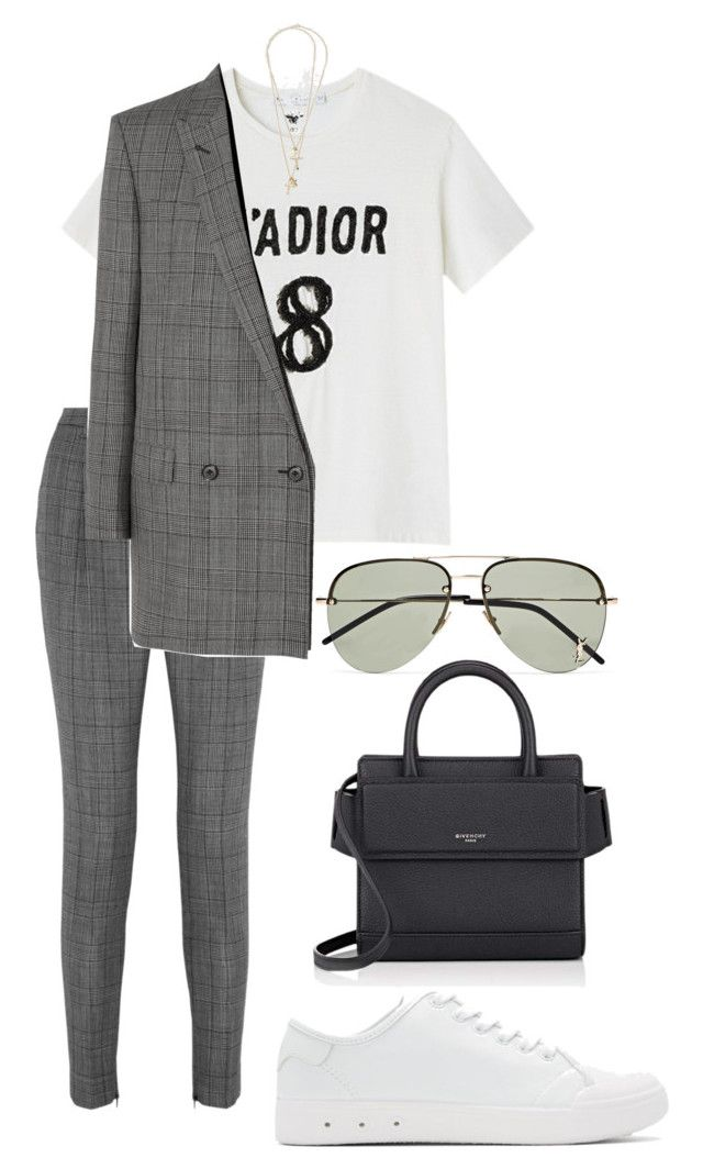 """""""Untitled #1171"""" by elipenaserrano ❤ liked on Polyvore featuring Yves Saint Laurent, rag & bone and Givenchy"""