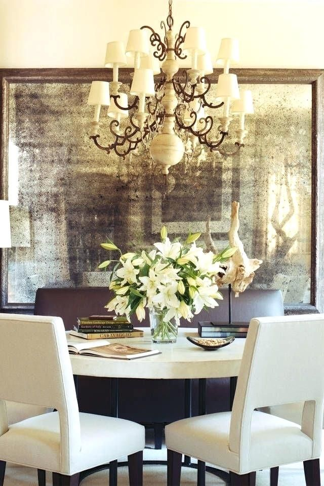 Distressed Mirror Wallpaper Interior Designer Shares Her Fall Inspiration Distressed Aged Mirror Wallpaper Mirror Dining Room Decor Home Decor Tips