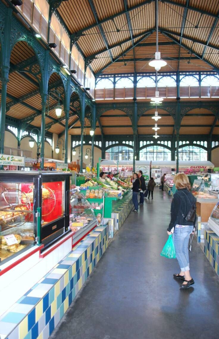 covered market in Lourdes, Hautes Pyrénées