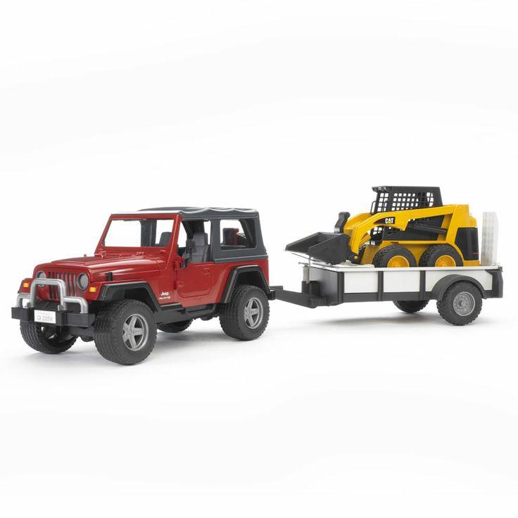 Bruder - Jeep z lawetą i Miniładowarką CAT