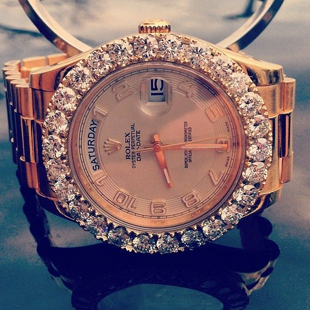 Rolex diamond and gold watch. - trendy mens watches, mens watches sale online, offers on watches online shopping *ad