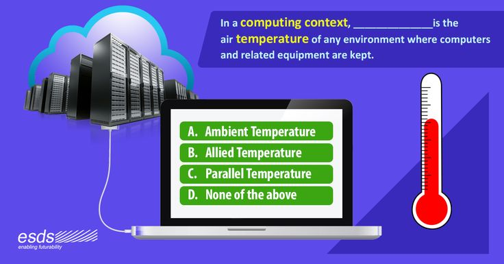 In a #computing context, _________ _________ is the air #temperature of any environment where #computers and related equipment are kept. A. Ambient Temperature B. Allied Temperature C. Parallel Temperature D. None of the above