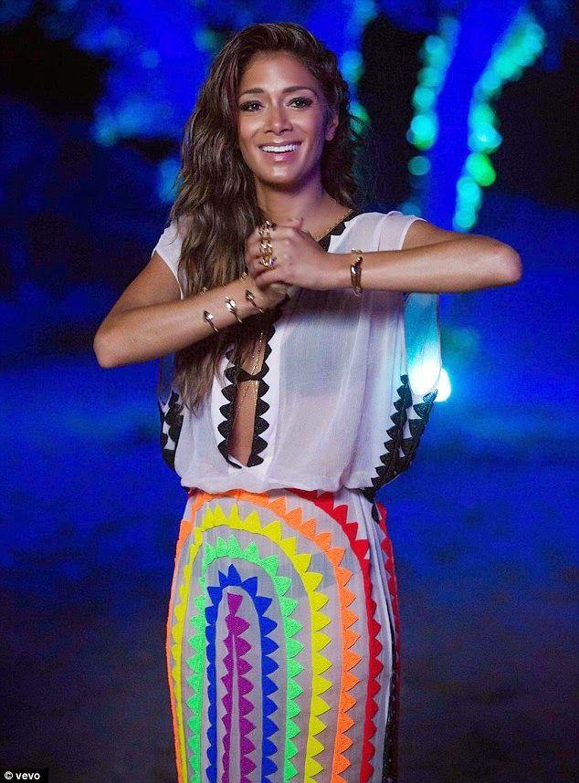 Nicole Scherzinger print dress                                                                                                                                                                                 More