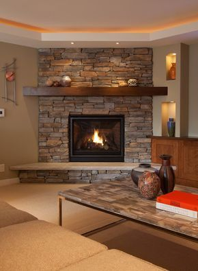 Corner Fireplace Ideas In Stone top 25+ best corner fireplace mantels ideas on pinterest | stone