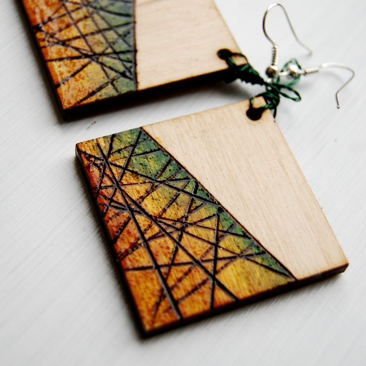 #wood #earrings #pendientes #pyrography #wooden #handcraft