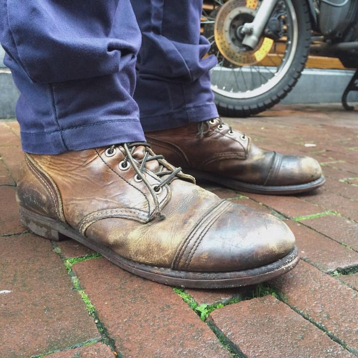 Look at these significant really well worn Red Wing Shoes 8111 Iron Ranger in Amber Harness by @tuelchristensen. Thank you for stopping by and enjoy your new pair of 1907 Classic Moc Toe's! | www.redwingamsterdam.com |
