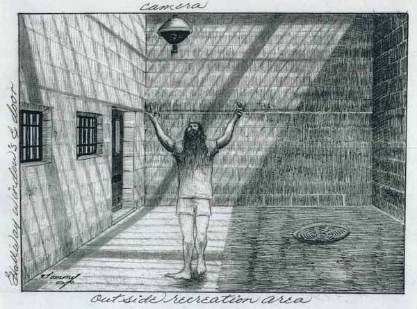 Self-portrait of Thomas Silverstein in the Recreation Area of His Prison Cell