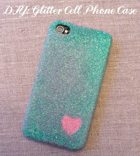 """It's """"How To's Day"""" and we are making our own cell phone cases.       Take any hard case (if it's bendy, it will crack), decoupage, glitter, and design your own!"""