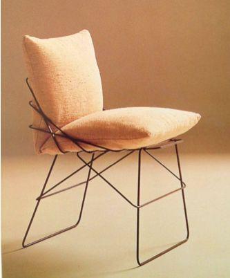 Enzo Mari for Driade. Nine grey iron rings, Leather. Italy, 1971. From venacavanyc.