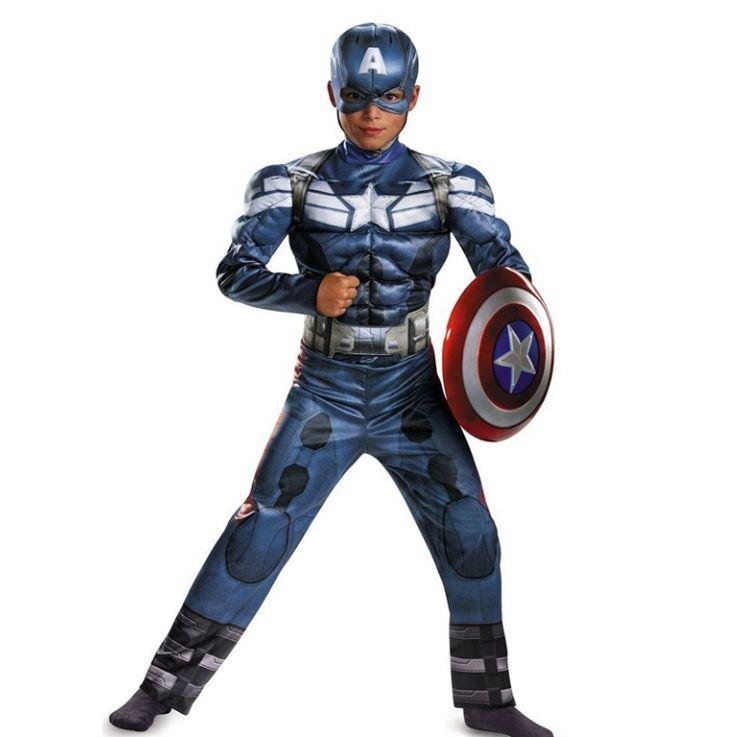 Kinder kostuum Captain America classic