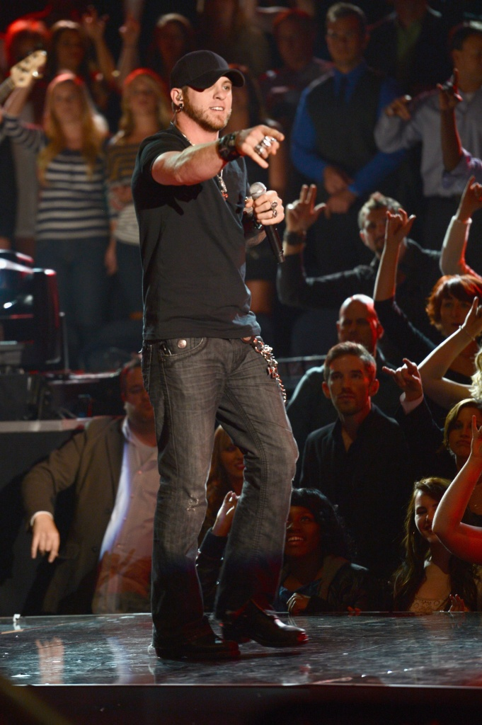 Brantley Gilbert performs during the 46th annual CMA Awards at the Bridgestone Arena on November 1, 2012 in Nashville, Tennessee. (Photo by Jason Kempin/Getty Images)