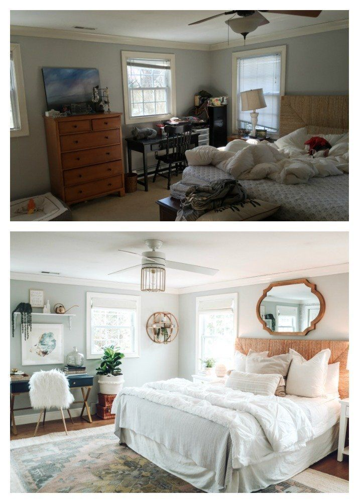 Master Bedroom Makeover with Home Office | Bedroom makeover ...