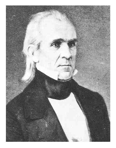 "James K. Polk, the 11th president of the U.S. Often referred to as the first ""dark horse"" President, Polk was the last of the Jacksonians to sit in the White House. He promised to expand America by annexing Texas and claiming all of Oregon, this came to be known as ""Manifest Destiny"". He also promised to only run for one term.  He lived up to his promises."