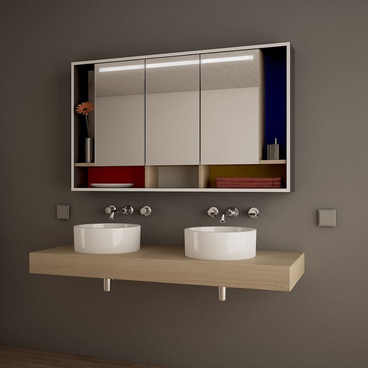 Die besten 25+ Spiegelschrank mit beleuchtung Ideen auf Pinterest - badezimmer spiegelschrank mit beleuchtung