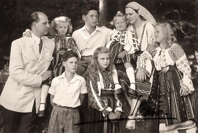 Ileana of Romania with her family