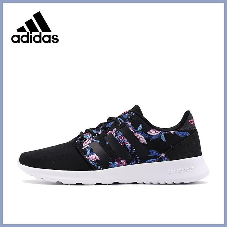 2017 Official New Arrival Adidas NEO Label CLOUDFOAM QT RACER W Women's  Skateboarding Shoes Sneakers