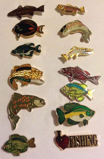 32 best lapel pins images on pinterest badges lapel for Fishing hat pins