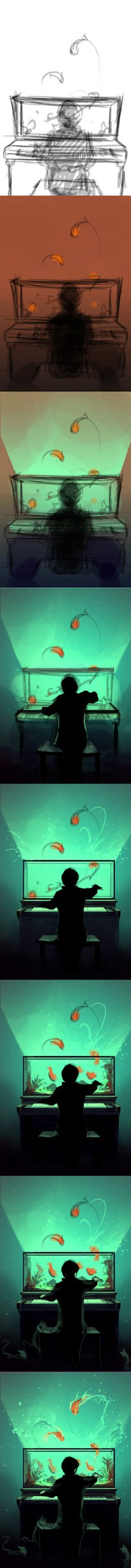 WIP Pianoquarium by `AquaSixio on deviantART ✤ || CHARACTER DESIGN REFERENCES | キャラクターデザイン | çizgi film • Find more at https://www.facebook.com/CharacterDesignReferences & http://www.pinterest.com/characterdesigh if you're looking for: #color #theory #contrast #animation #how #to #draw #paint #drawing #tutorial #lesson #balance #sketch #colors #painting #process #line #art #comics #tips #cartoon || ✤