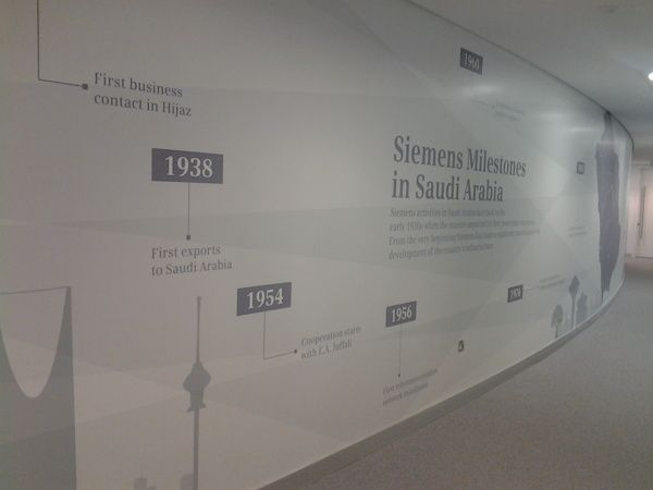 Curved wall timeline