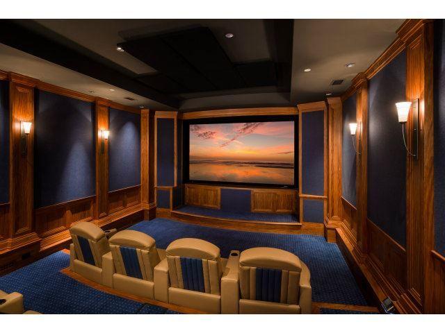A Royal Blue Home Cinema Portola Valley Ca Coldwell