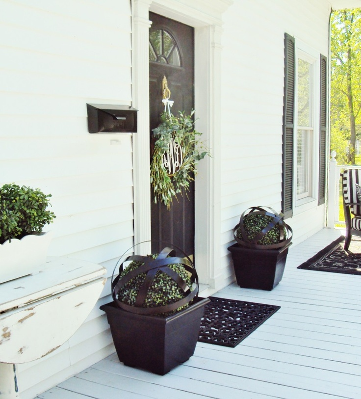 1000 Ideas About Front Door Planters On Pinterest Front