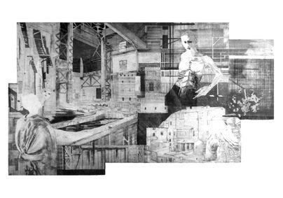 Urbinola III, Aleksandra Błaszczyk, akwaforta, 70 x 100 cm