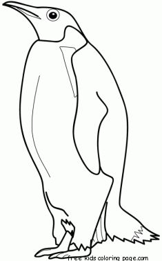 printable animal penguins coloring pages - Penguins Coloring Pages Printable
