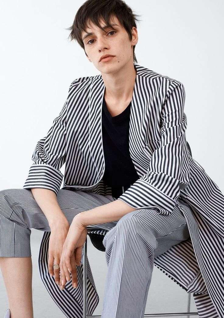 Wrap Dress - Black Stripe #HopeStockholm