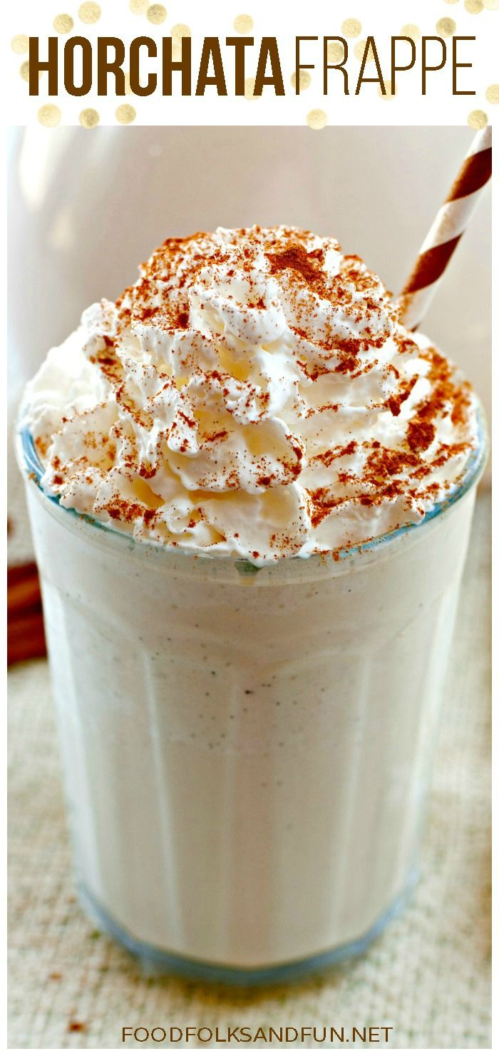 Horchata Frappe recipe, perfect for #cincodemayo!